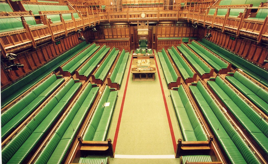 Houses Of Parliament Interior.  House of Commons Chamber elevated view by UK Parliament The Comm Flickr