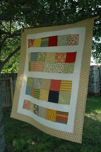 The Charm Pack Baby Quilt | by The Driftwood Thimble