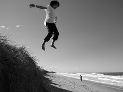 Big jump at Caloundra Beach | by martinhoward