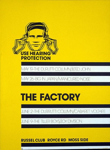 The Factory Poster. Peter Saville, 1978 | by Eye magazine