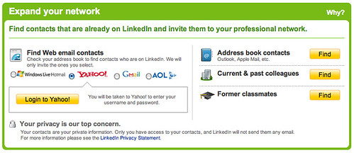 how to send networking message on linked in