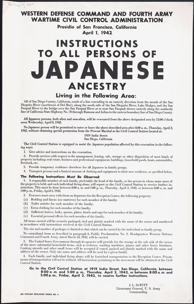 The japanese internment.