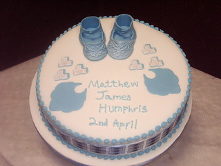 Blue Booties Christening Cake | by platypus1974
