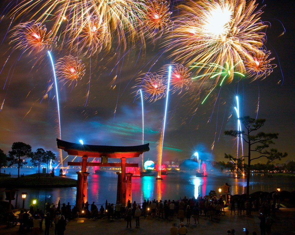 Image result for photos of fireworks at epcot