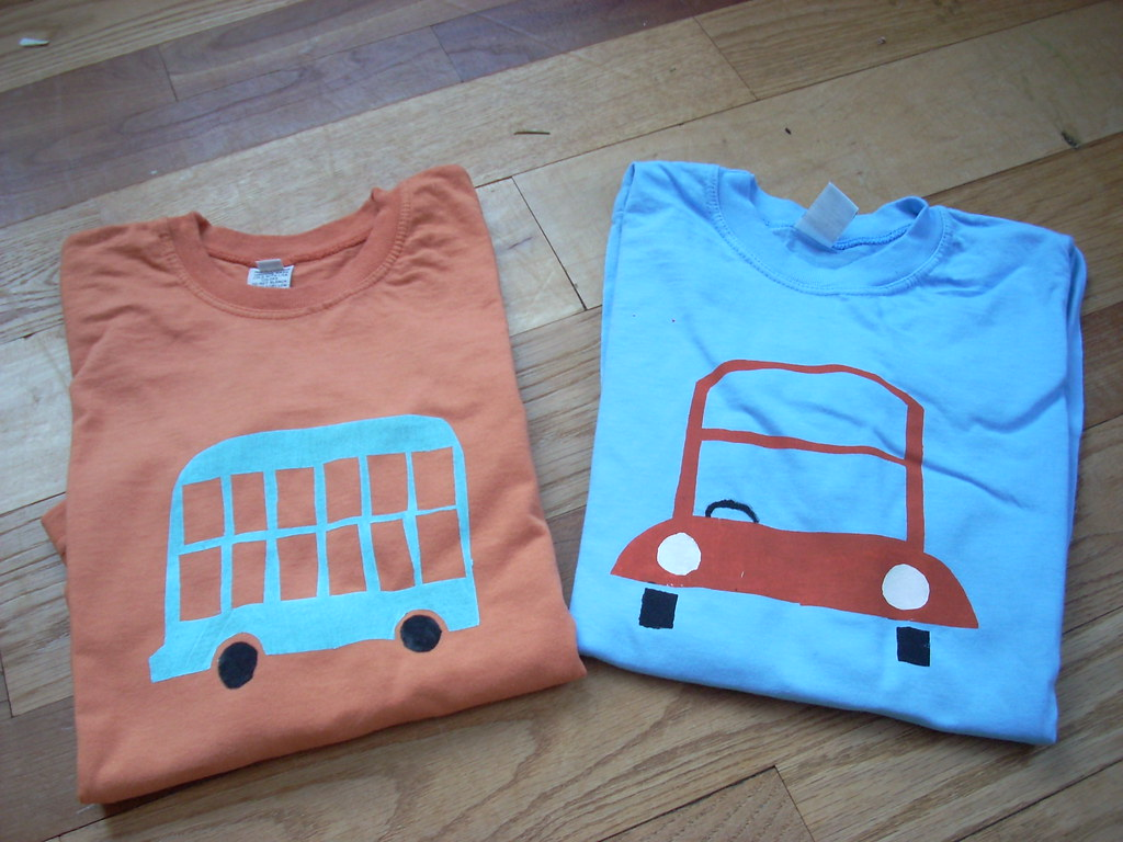 Freezer Paper Stencil Shirts | geminimama | Flickr