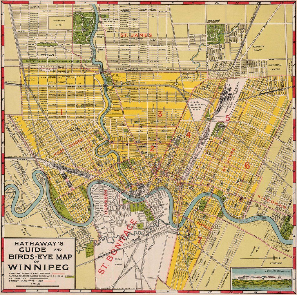 Hathaways Guide and BirdsEye Map of Winnipeg 1911 Flickr