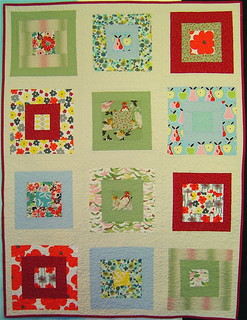 Birds & Blooms baby quilt | by alissahcarlton