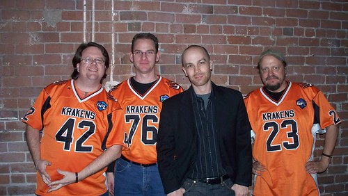 Guys in GFL jerseys - and Scott Sigler | by TwinKlerGirl