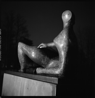 Henry Moore at Kew Gardens (at night) | by boncey