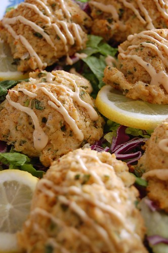 Baked Crab Cakes Wirh Meyers Lemon Aioli