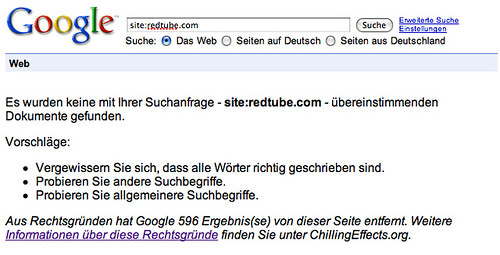 RedTube Removed from Google Germany | by rustybrick