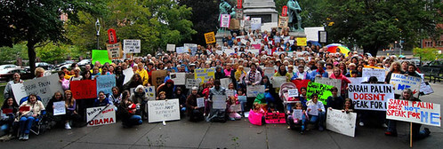 "Women of Rochester, NY Rally to Say ""Sarah Palin Doesn't Speak For Me"" 