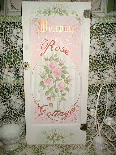 ... Handpainted Cottage, Shabby Chic Style Vintage Door | By Thepainterlady