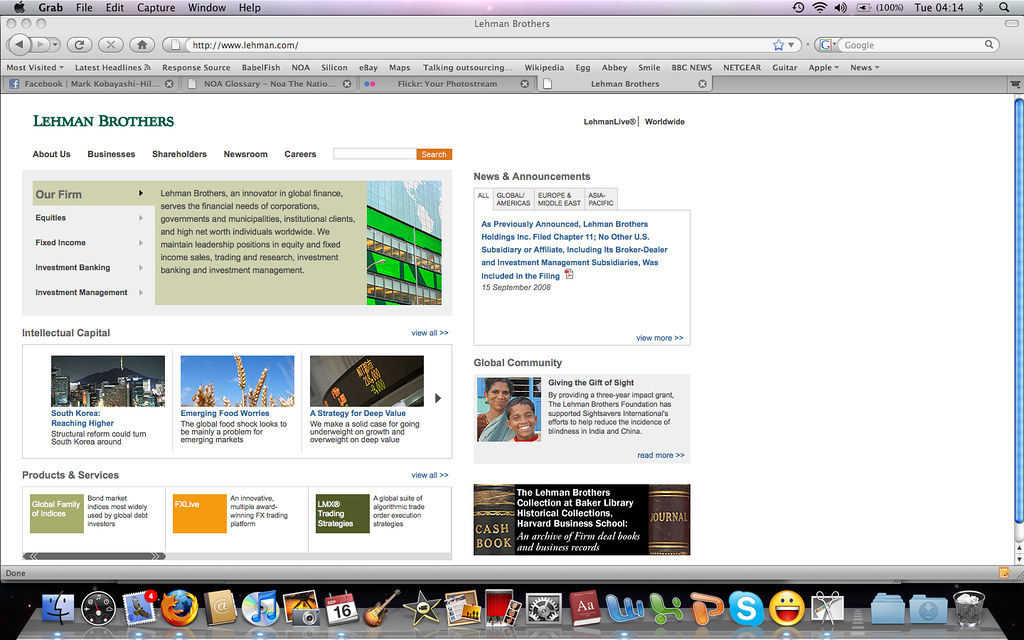... Lehman Brothers website today - Sep 16 2008 - by markhillary