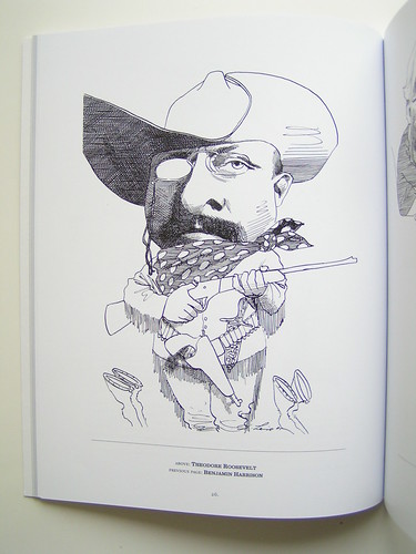 American Presidents by David Levine - Teddy Roosevelt | by fantagraphics