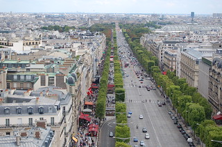 View from Arc de Triomphe, Paris | by teachandlearn