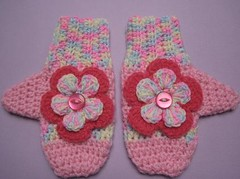 Thedbo Blossom Mittens | by crochetroo