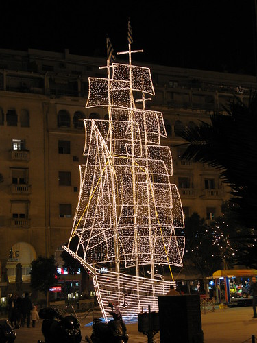 Thessaloniki's X-mas boat | In Greece it is traditional to p… | Flickr