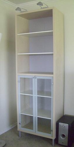 Ikea Magiker Bookcase Glass Doors And 2 Inreda Halogen
