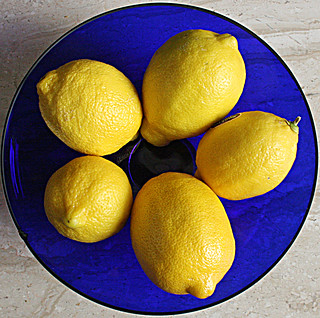 Squircle - Lemons & Cobalt Bowl | by Jill Clardy