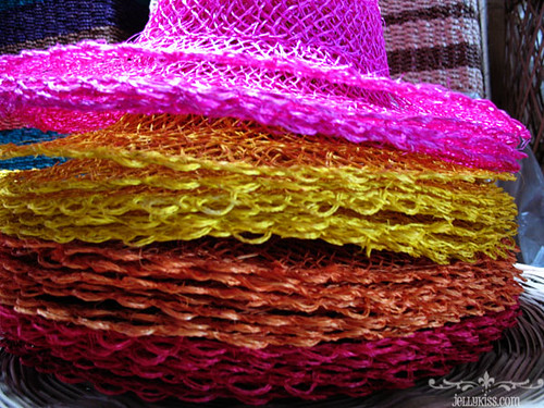 Colorful Hats Native Hats Weaved At The Handicrafts Shops