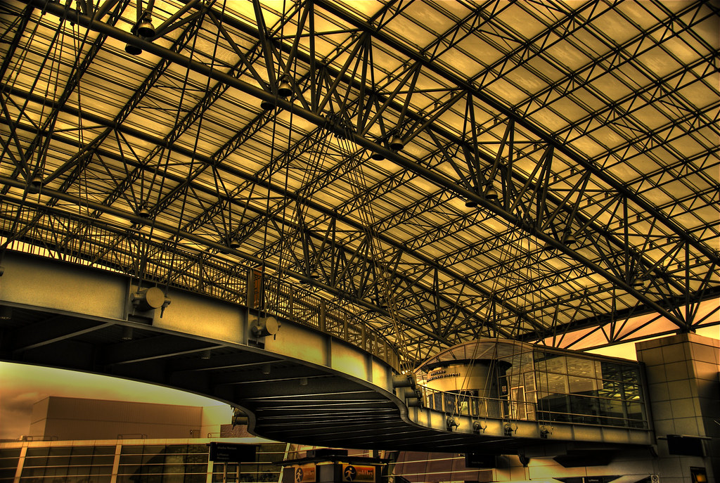 ... PDX Skybridge u0026 Canopy | by Thad Roan - Bridgepix & PDX Skybridge u0026 Canopy | A view from under the curvy Pedestru2026 | Flickr