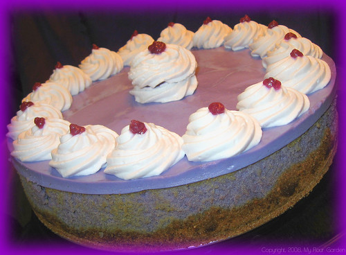 Ube Cheesecake | From My Flour Garden as Taro Cream Cheeseca… | Flickr