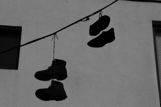 Shoes on a Telephone Line - © Paul Louis Archer | by Paul Louis Archer