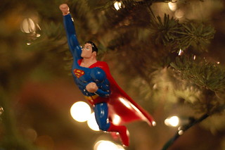 Christmas tree ornaments: Superman flying to save the day | by Chris Devers