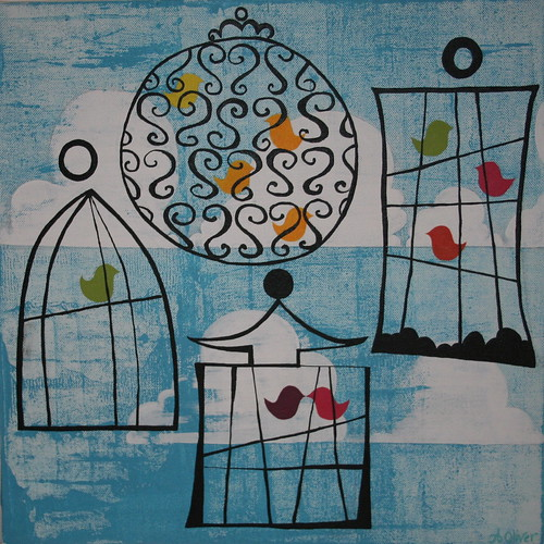 tweet - with cages | by anna oliver