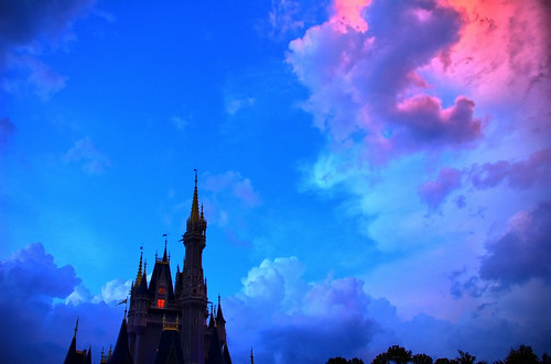 Disney - Cinderella Castle and Pretty Sky - HDR (Edit 2) (Explored) | by Express Monorail