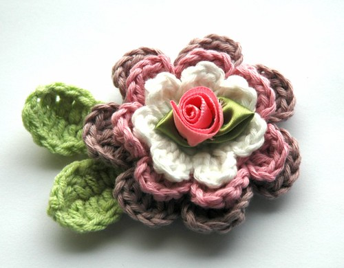Applique Flower in Organic Cotton | by AnnieDesign