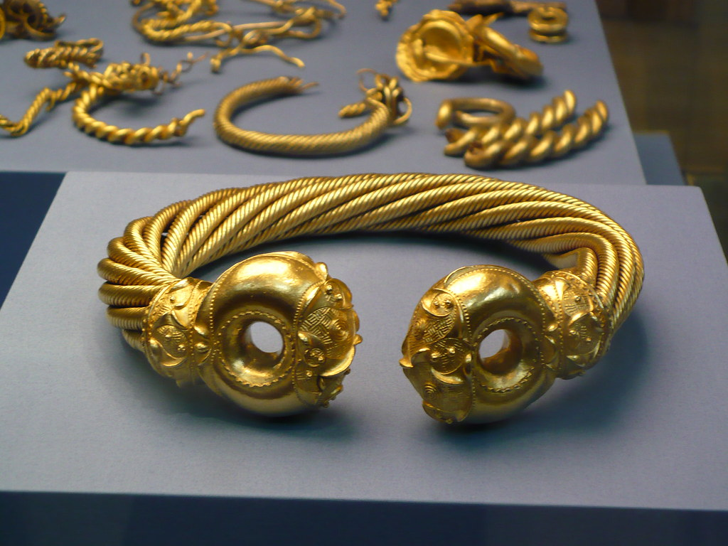 Celtic gold jewelry British Museum London Ralph Wilson Flickr