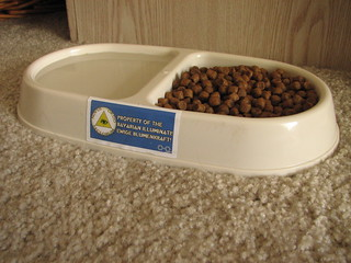 Illuminati-owned cat food bowl | by mmechtley