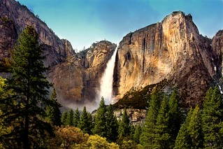 Yosemite Falls - Full Flow | by Cliff Stone