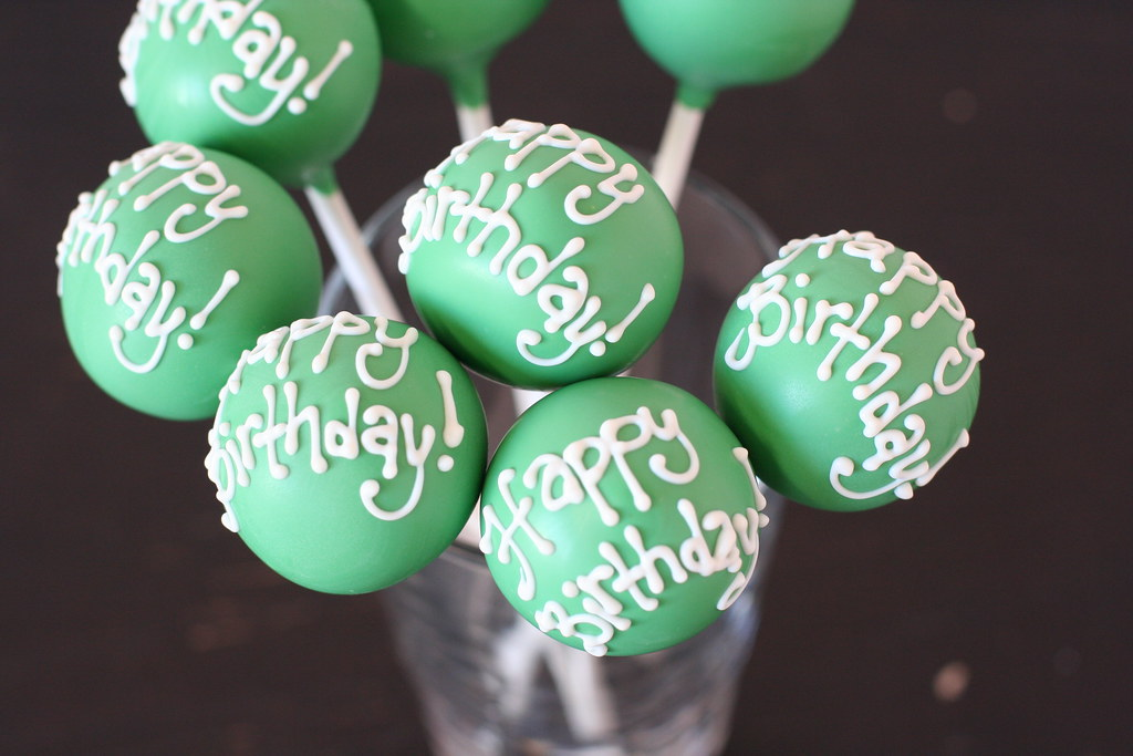 Happy Birthday Cake Pops Client Requested Kelly Green Cake Flickr