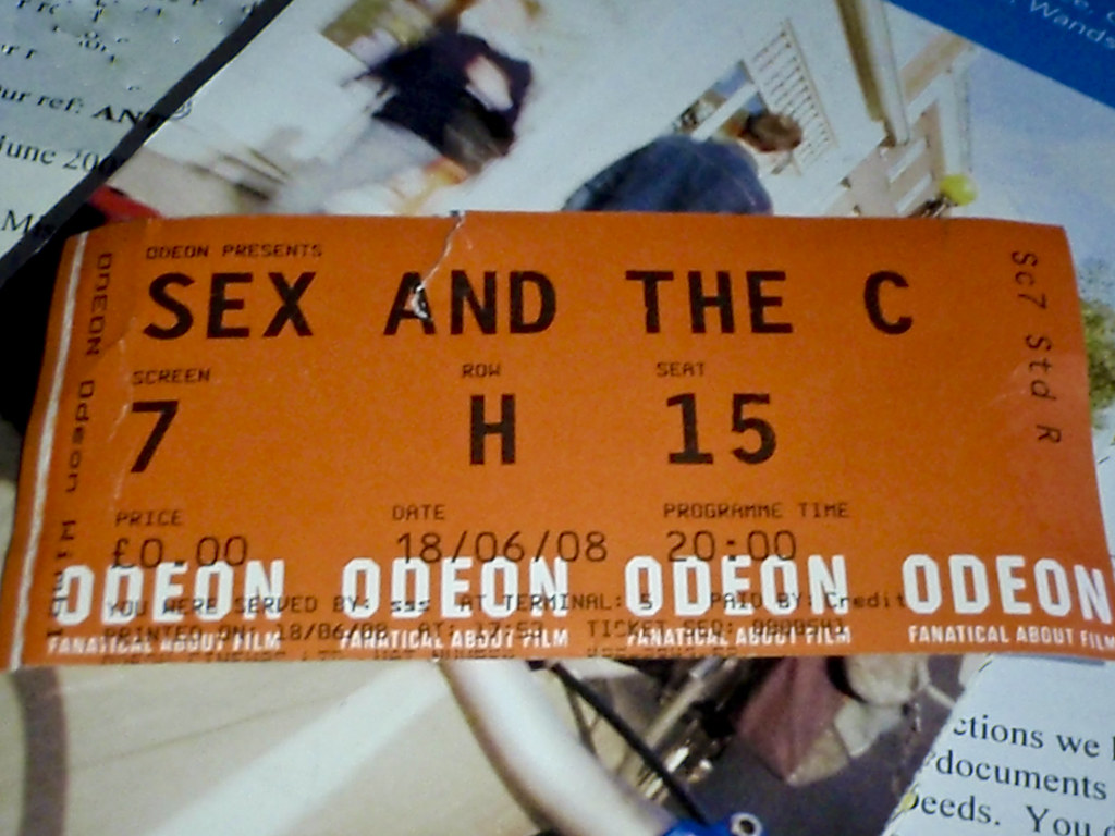 Cinema tickets for sex and the city