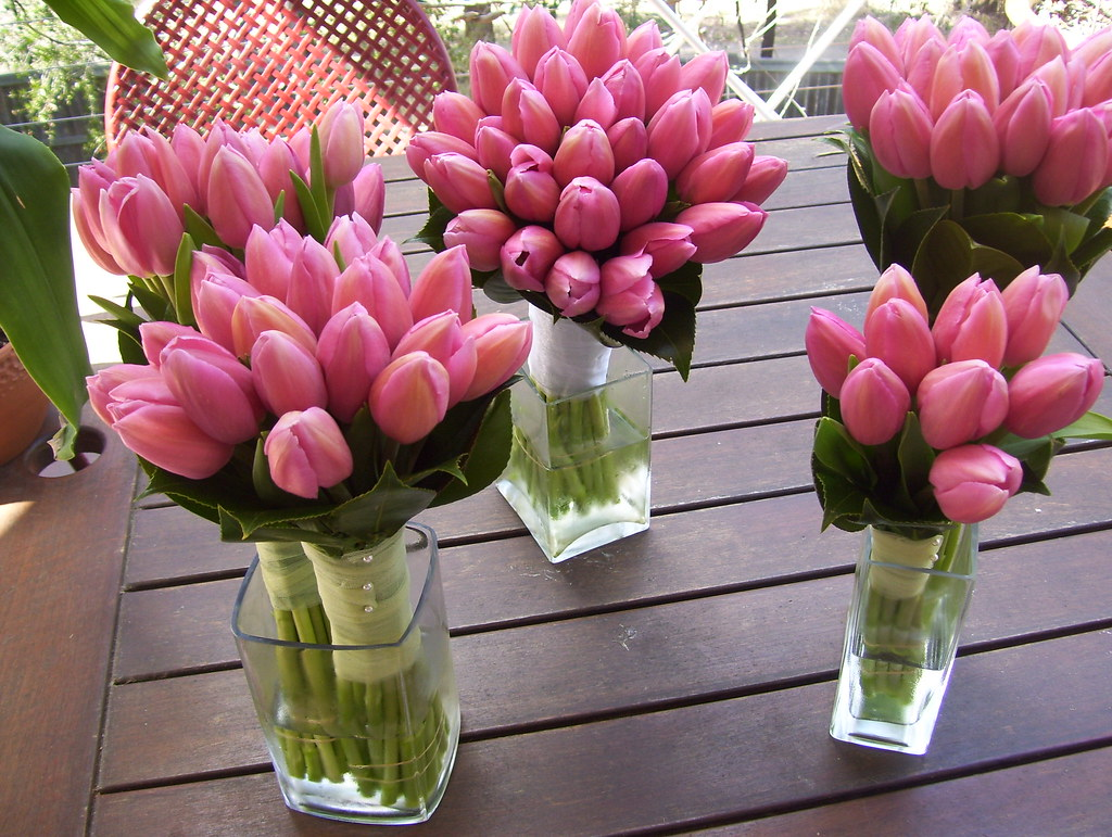Tulip Wedding Bouquets Www Fbdesign Com Au P39 Pink Tulip Flickr