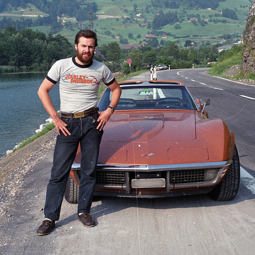 72' Vette and me @ Lauerzersee Switzerland | by Toni_V