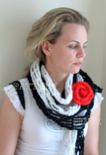 Pdf Crochet Pattern Frida Fashion Scarf With Red Rose Hair Flickr