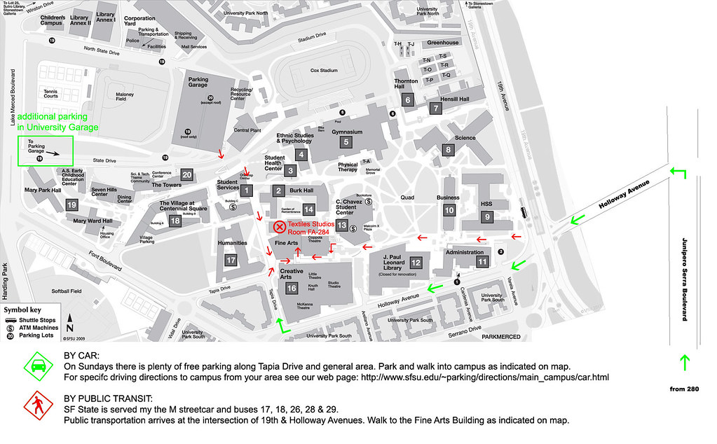 Sfsu Campus Map Directions To Sf State University Campus A Flickr
