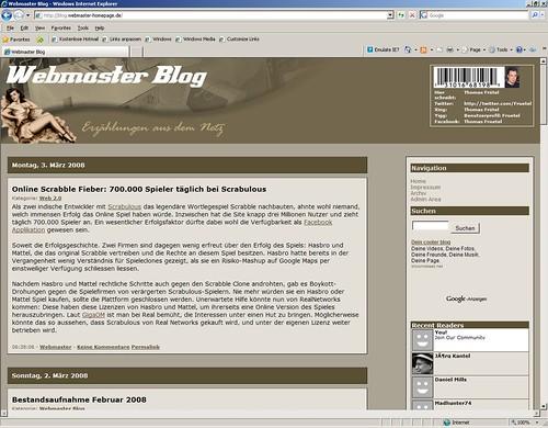 Das Webmaster Blog Mit Dem Neuen