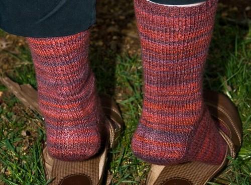Knitting Vintage Socks Nancy Bush : Berry socks heel yarn ggh marathon needles size us
