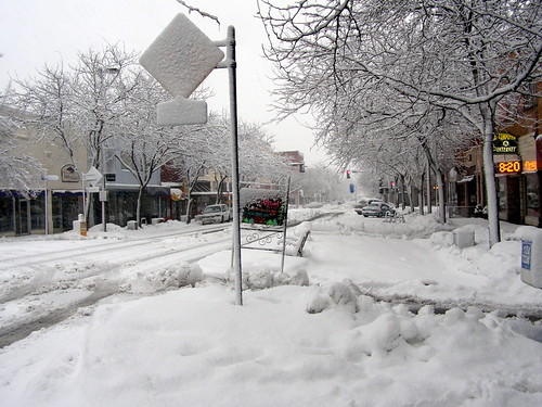 Main Street Snow   Taken in Moscow, ID on January 2, 2009 ...