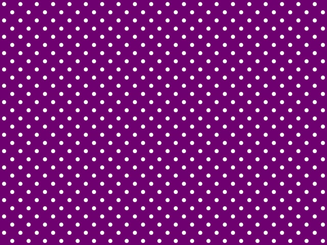 Polka Dotted Background For Twitter Or Other Purple