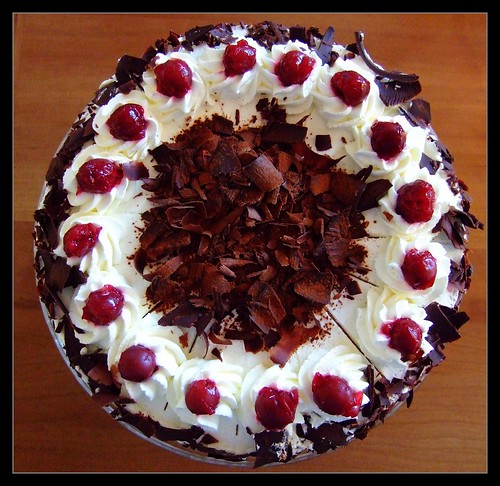 My wifes todays artwork: Schwarzwälder Kirschtorte (Black Forest gateau) | by der_Corse