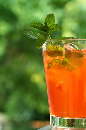 Bourbon Mint Tea | by thebittenword.com