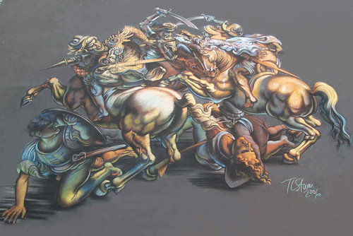 3D Street Painting - Battle of Anghieri | by Tracy Lee Stum