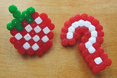 Strawberry and question mark (brooches) | by *NooNoo*