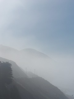 a misty start on hwy 101 | by The Hungry Cyclist